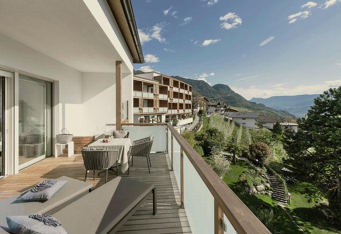 Unschlagbare Aussicht auf die Südtiroler Berge von allen Hohenwart Zimmern