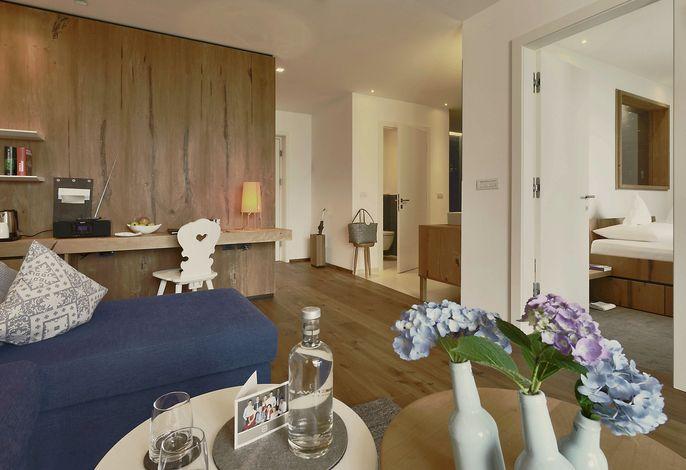 Enzian Suite im 4*s Wellnesshotel in Meran Südtirol
