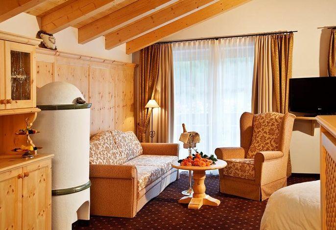 Ankommen, loslassen und sich wie zuhause fühlen im Alpin Garden. Eingebettet in einer traumhaften Landschaft des Grödnertales, wo Sie morgens beim Frühstück der Langkofel begrüßt.
