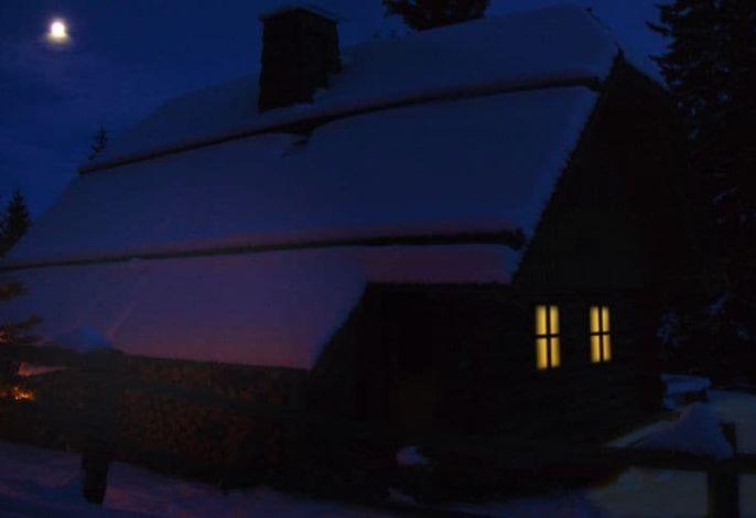 Bischofhütte Weihnachten bei Nacht