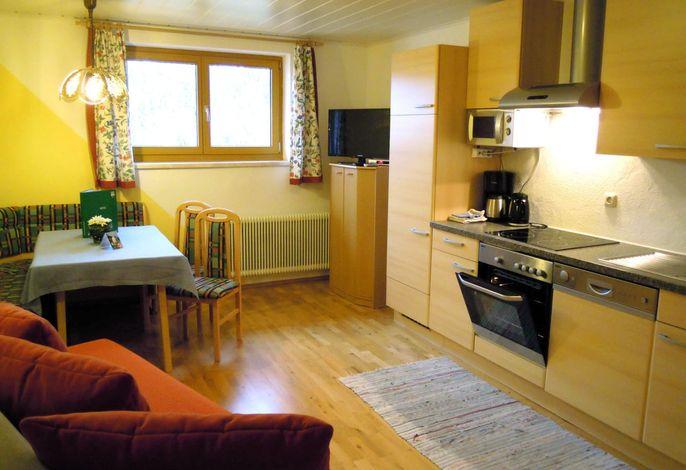 Wohnküche Ferienwohnung Sunnseitn