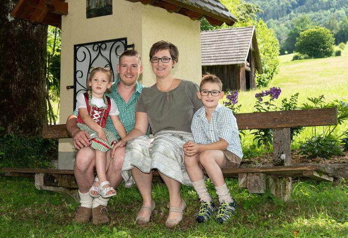 Klaus jun., Susanne, Philipp und Marie- Sophie Hirner