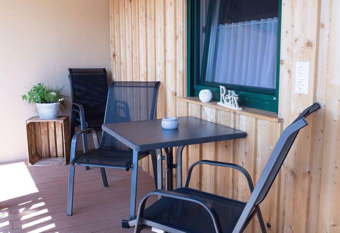 Rebenhof Schwalm - Balkon Ferienwohnung