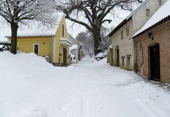 Schnee in der Kellergasse