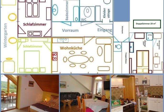 Lageplan Ferienwohnung für 6 Personen