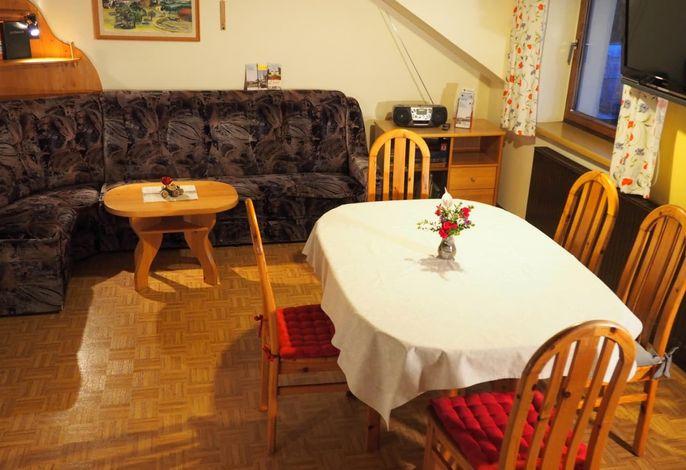 Ferienwohnung Wohnbereich- Wohnküche