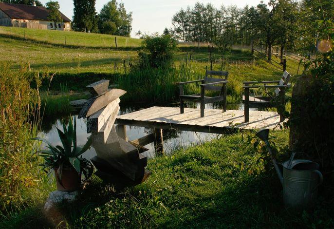 Biohof Besenbäck - Der Teich