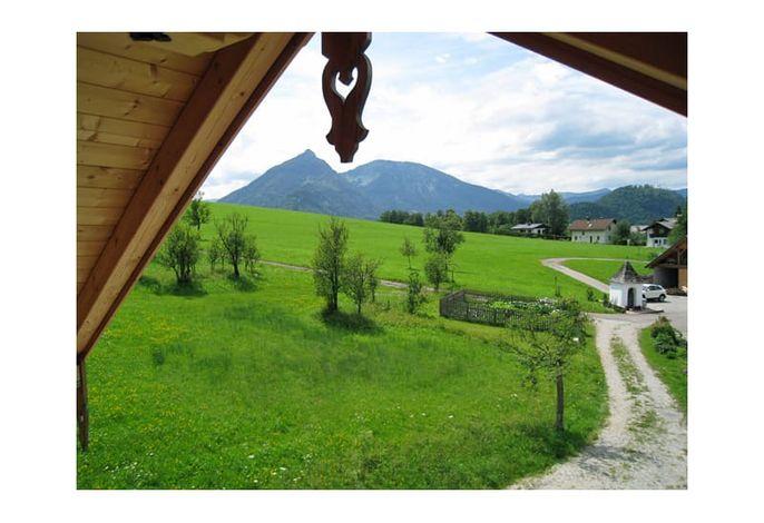 Aussicht vom Balkon der Ferienhütte