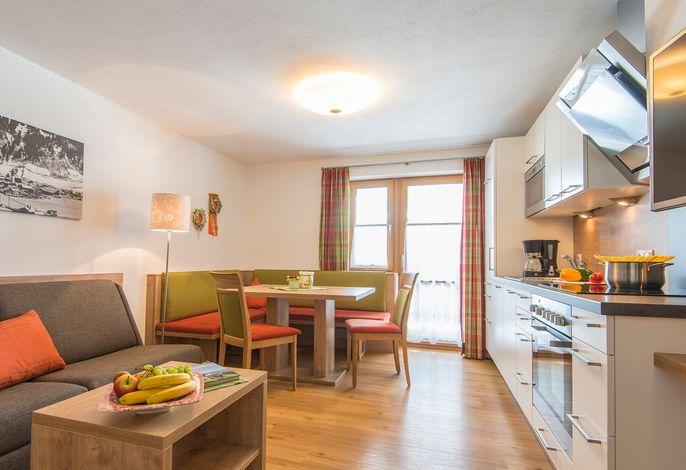 Appartement Drei Waller - Wohnbereich, Küche