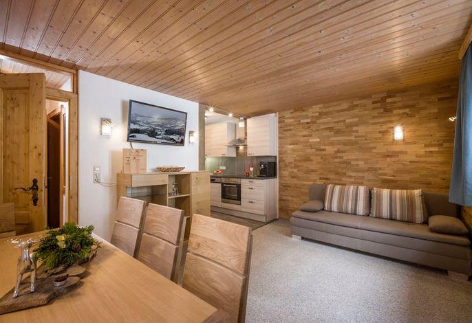 Wohnzimmer Apartment Bergwald