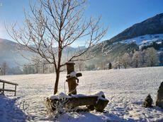 Landschaft Hof Unterhuben Winter