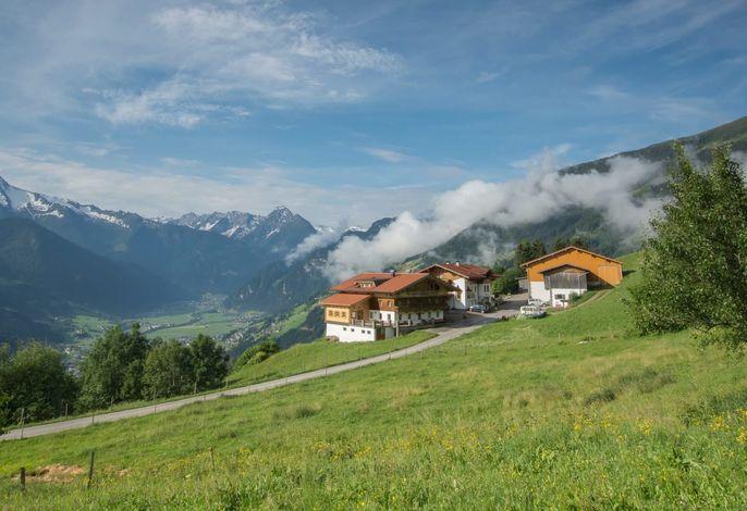 Panorama Blick in die Zillertaler Bergwelt