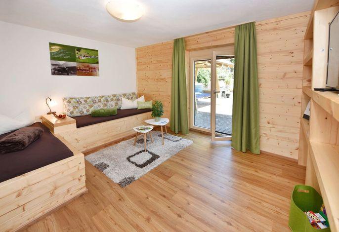 Wohnraum im Apartment Mottnerhof