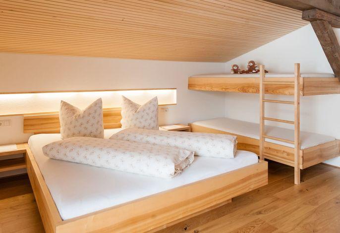 Doppelzimmer mit Stockbett