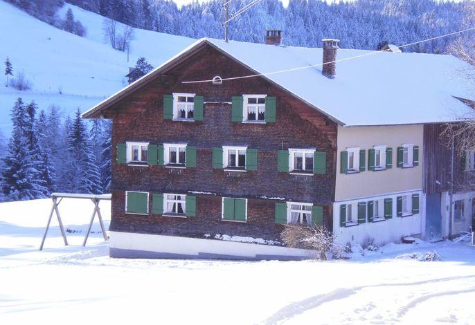 Haus Hagspiel im Winter