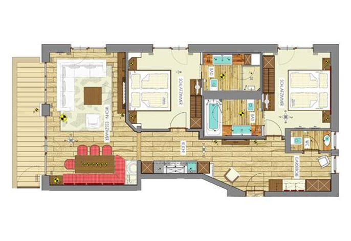 Auriga, Appartements