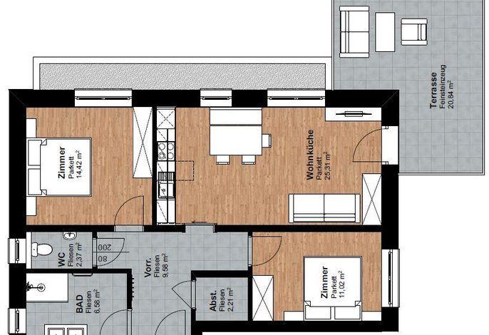Appartement Bergahorn