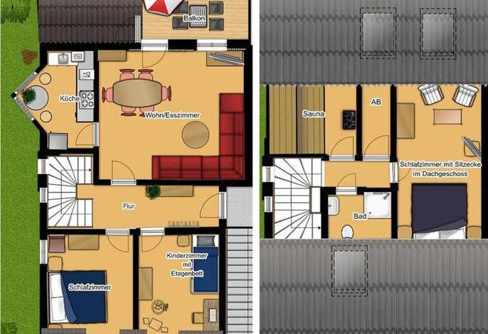 Haus Sommerwind; Wohnung 3