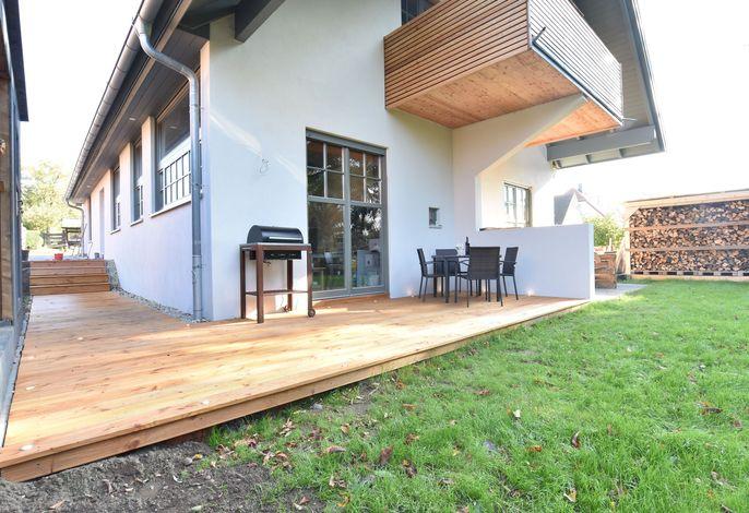 Ferienhaus Sonne und Mond mit Kamin Terrasse und Garten