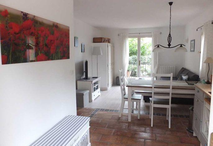 offene Wohnküche mit Terrassenzugang