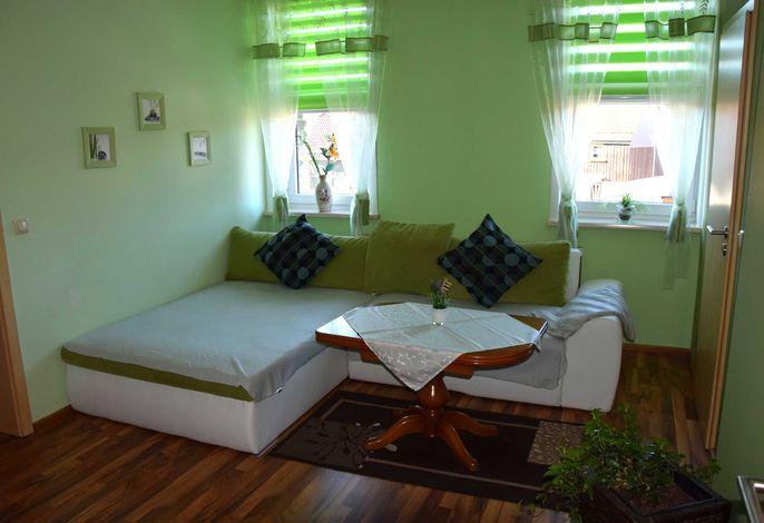 Gästezimmer 2 mit Wohn- und Schlafbereich getrennt