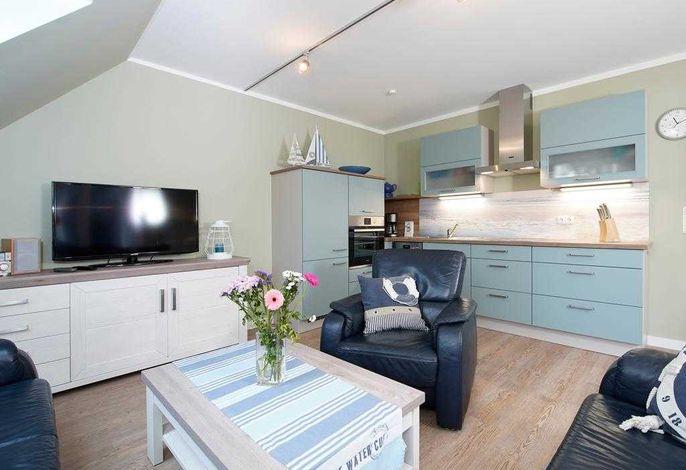 Likedeeler Whg. Li39 - Blick vom Wohnbereich auf die Einbauküche