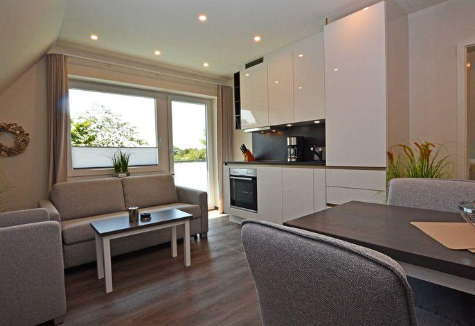 Einrichtungsbeispiel Wohnzimmer mit Küchenzeile