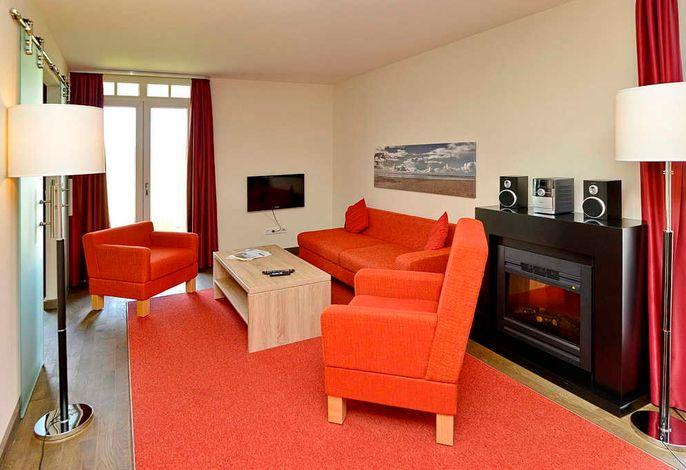Wohnzimmer mit Elektro-Kamin