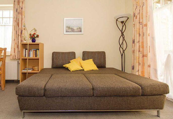 Wohnbereich mit Doppelschlafcouch