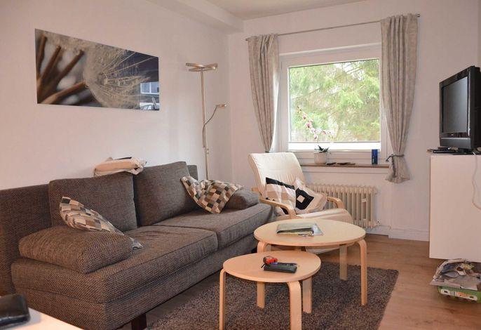 Wohnbereich, Couch mit Schlaffunktion