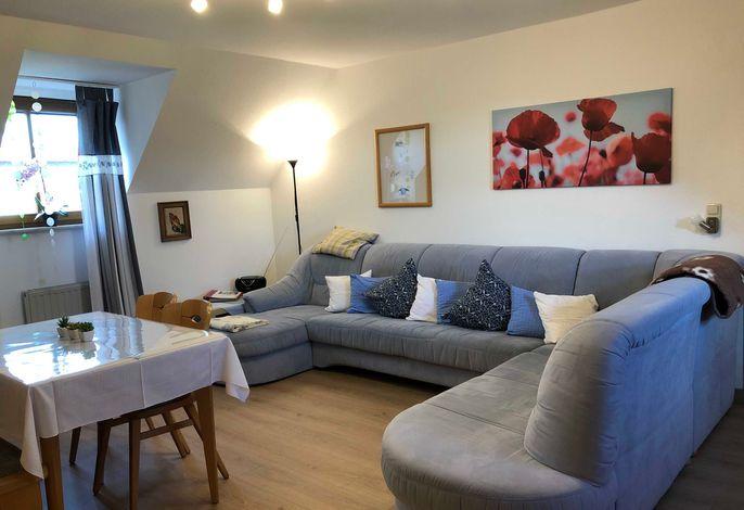 Ferienwohnung Milseburg Wohnbereich, neu renoviert 2020