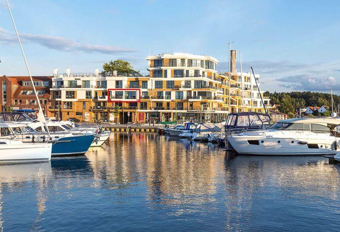 Lage des Apartments in der Hafenresidenz