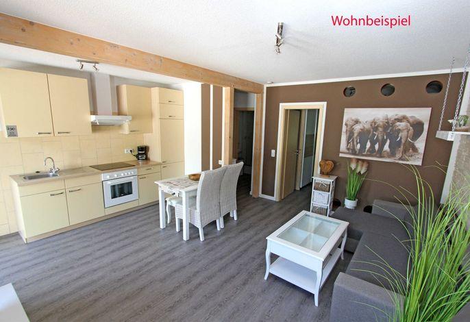 Wohnraum mit offener Küchenzeile (Abbildung ähnlich)