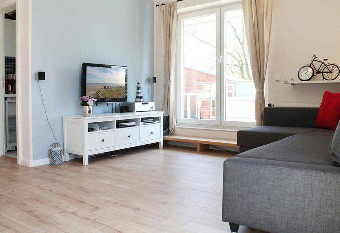 Goosbrink Whg. 19 - Blick auf den Wohnbereich und den TV