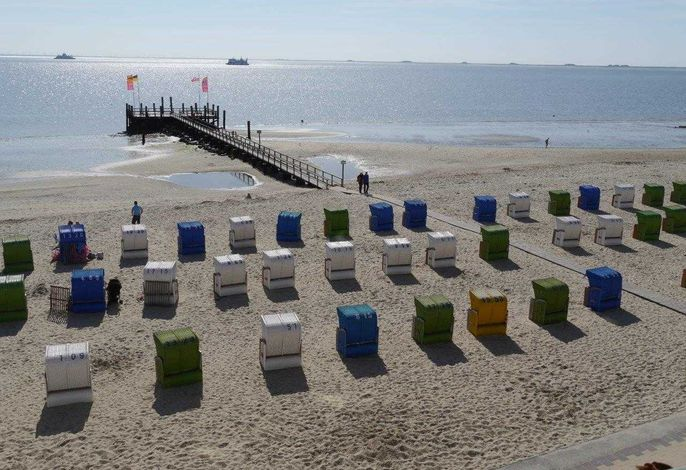Genießen Sie den Ausblick auf Strand und Nordsee!
