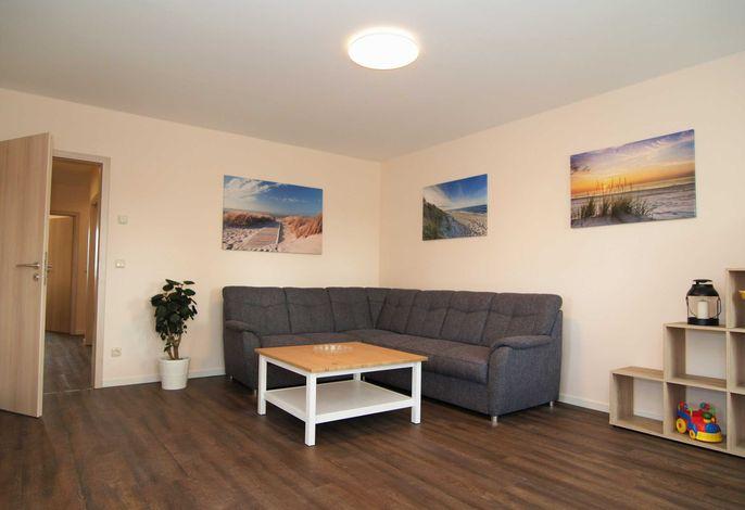 Der Wohnbereich mit gemütlicher Sitzecke