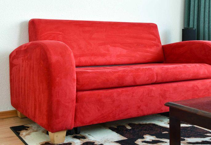 Ferienwohnung rotes Sofa Das rote Sofa