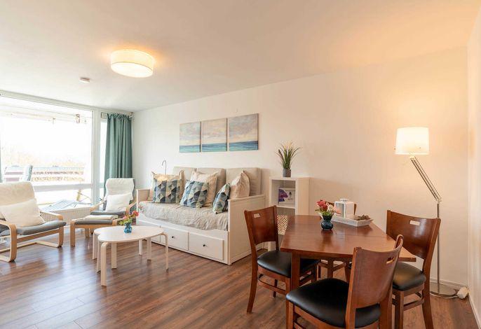 Ferienwohnung Ostseeschnucke Wohnzimmer
