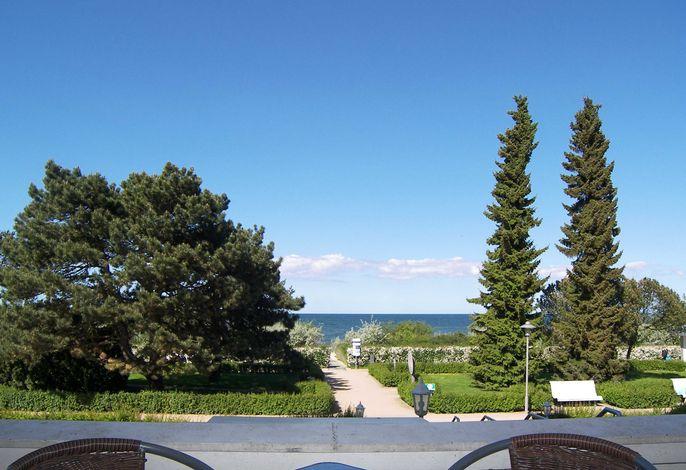Strandvillen Wald und See mit zwei Balkonen und Meerblick