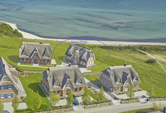 Strandhäuser Lobbe -F661   Haus6 Düne Kamin+Sauna+Meer
