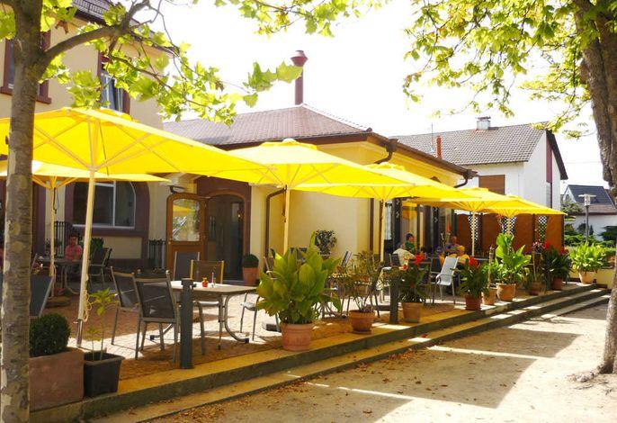 Restaurant Thai Tawan: Sonnenterrasse am Rathausplatz (Bouleplatz)