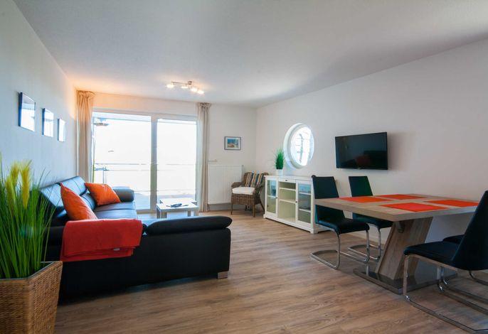 Wohnzimmer mit Blick zur Nordsee