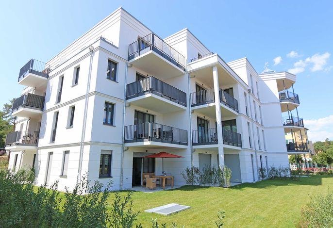 MZ: Villa Düne Whg. 14 mit Balkon/Meerblick & Sauna