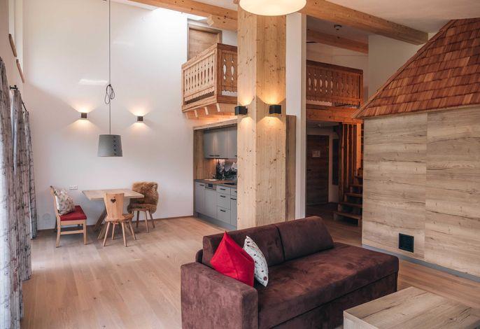 Panorama Apart Grimming mit Sauna - Wohnbereich
