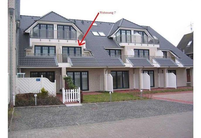 Lage der Wohnung im Haus (Seeseite)