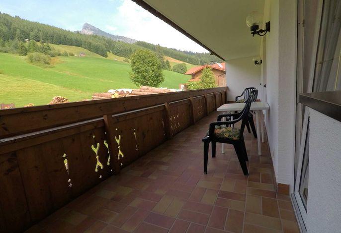Ferienwohnung Lohmoos Balkon