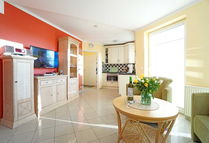 Wohnzimmer mit Flachbildfernseher