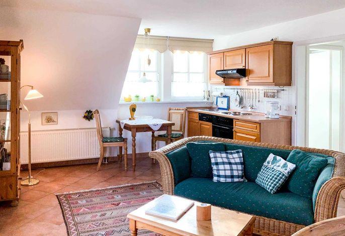 Küchen-und Essbereich im Landhausstil