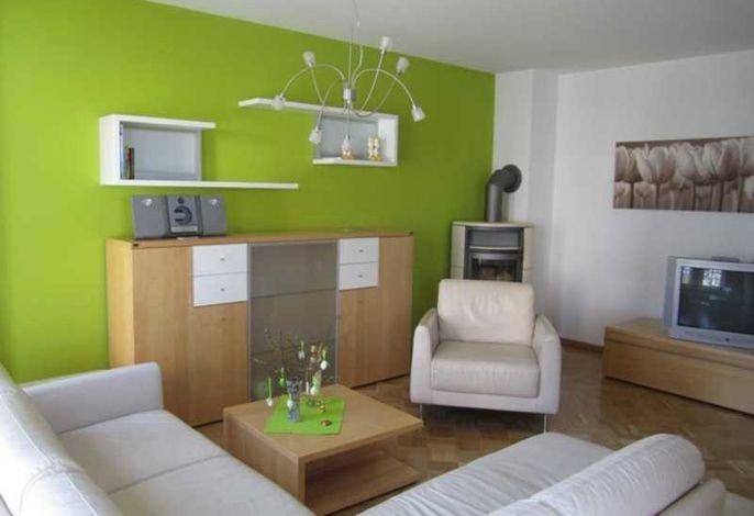 Wohnzimmer (4) mit Kaminofen