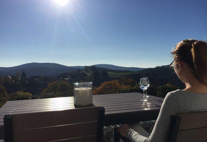 Der wuderbare Ausblick von der Terrasse